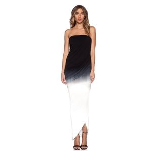 Young Fabulous & Broke ombre strapless maxi dress